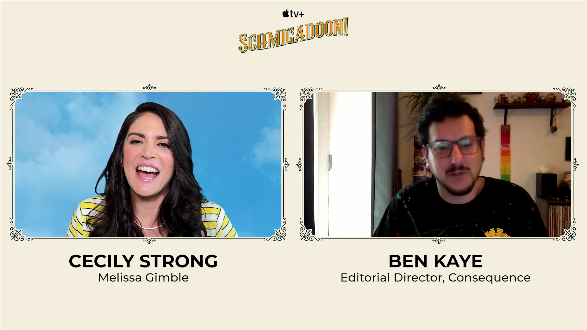 Cecily Strong and Barry Sonnenfeld on the Apple TV+ Musical Series Schmigadoon!