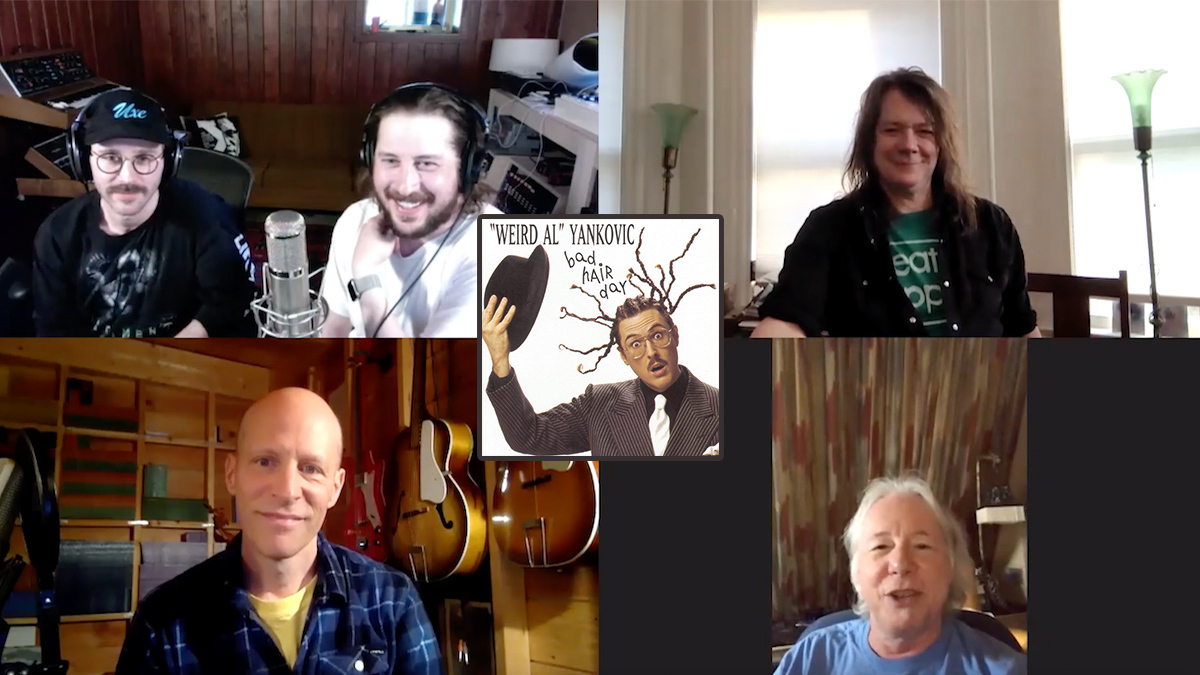 Weird Al's Bad Hair Day Round Table: Mills, Pirner, Ballew, and Portugal. The Man