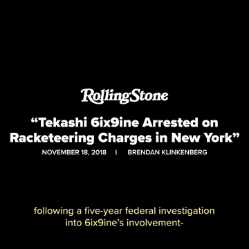 Tekashi 6ix9ine Legal Summary